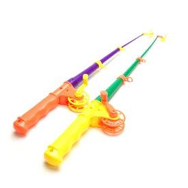 ひっかけ磁石クルクルつりざお 6個入【 釣り 魚 フィッシュ 釣り竿 おもちゃ リール】