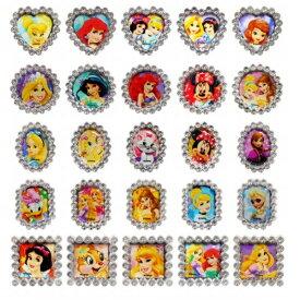 ディズニーキラキラリング 50個入【 景品 子供 子供会 縁日 お祭り 夏祭り お子様ランチ 指輪 ゆびわ 景品玩具 女の子】