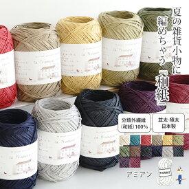 \TIME GOGO/【612】Amian(アミアン)[分類外繊維(和紙)100% 並太-極太 40g玉巻(約86m) 全14色]