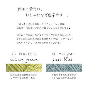 【1218】reine(レーヌ)[毛(ウルトラファインウルグアイメリノ)100%中細-合太40g玉巻(約148m)全9色]