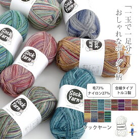 \TIME GOGO/【845】Sock Yarn(ソックヤーン)[毛73% ナイロン27% 合細 100g玉巻(約420m) 全12色]
