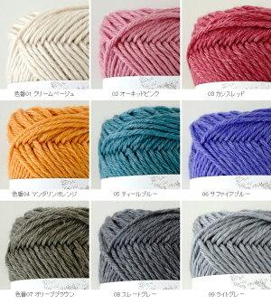 【1212】SoupirWool(スピールウール)[毛(メリノウール)53%アクリル31%指定外繊維(リヨセル)15%絹1%並太約40g玉巻(約72m)全9色]毛糸ピエロ♪編み物/手編み/手芸