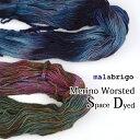 \クーポン配布中/【421】MALABRIGO(マラブリゴ) Worsted(ウーステッド)《段染めカラー》[毛(メリノウール)100%…