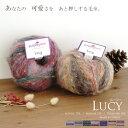 【810】Lucy(ルーシー)[アクリル78%モヘヤ12%ポリエステル10% 超極太 100g玉巻(約200m) 全7色]毛糸ピエロ♪編み…