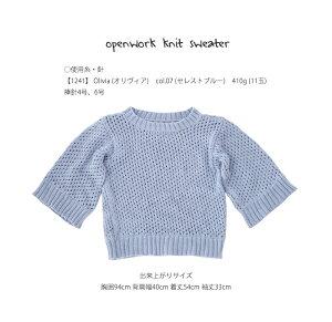 △0の付く日に新作更新♪△作品♪1241sw透かし編みセーター