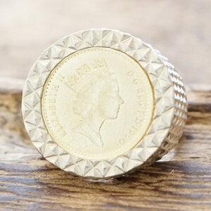 【あす楽】amp japan(アンプジャパン) エリザベス コイン リング メンズシルバー 925 指輪 エリザベス コインシルバーアクセサリー 銀ハンドメイド ジュエリーファッション ブランド17AAS-202silver
