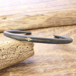 amp japan(アンプジャパン)バングル メンズ ブラックダイヤモンド 真鍮 燻しヴィンテージ アンティークハンドメイド ジュエリーファッション ブランド おしゃれ16AO-320【ギフト包装】【送料無