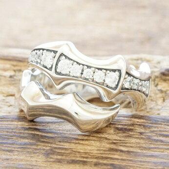 エムズコレクション(M's collection)クロー 爪 リング 指輪 シルバー925 キュービックジルコニアX0091cz【送料無料】