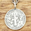 NORTH WORKS (North works) [No.] N-302 dime coin mark copy.switch necklace mens / ladies / pairs / presents / Christmas silver 900, 925 Silver, brass silver / 10 St / Niko-CHAN