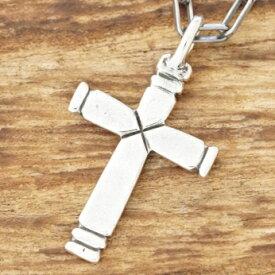 NORTH WORKS(ノースワークス)インディアンジュエリー クロス ネックレス十字架 シンプル シルバーメンズ レディース ペアn-307【送料無料】