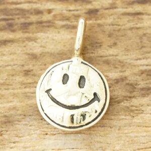 【別注】NORTH WORKS(ノースワークス)K18 18金 ゴールド ネックレスコイン ネックレス メンズスマイル ニコちゃんヴィンテージコイン 金 シンプルハンドメイド ジュエリーng-700【ギフト包装】【