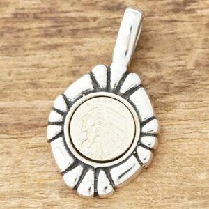 【あす楽】インディアン コイン ネックレスメンズ レディースシルバー 925 liberty ペンダント トップシンプル おしゃれ ブランドハンドメイド ジュエリーシルバーアクセサリーTJK SD123【ギフ