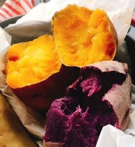予約開始 10月から販売 長崎県五島産 どこよりも安い!オーガニック 安納芋と紫芋のセット各1キロ  S-Mサイズ各8〜10ずつ個入っています 送料無料 北海道、沖縄、離島除