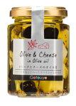オリーブとチーズのオイル漬