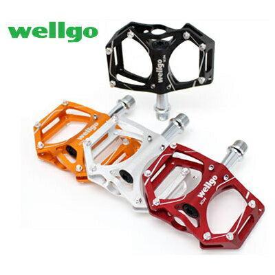 【あす楽】Wellgo ウェルゴ M194 CNCアルミペダル スパイクピン付 自転車ペダル