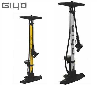 【あす楽】GIYO ジヨ GF-5525 ゲージ付きフロアポンプ スチールボディ 米/仏式対応 自転車空気入れ【送料無料】