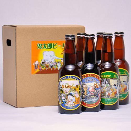 鬼太郎ビール 330ml ×6本セット 要冷蔵 鳥取県産 地ビール WBA 世界第1位 代引不可 ギフト お歳暮 父の日 お中元 プレゼント用におすすめ