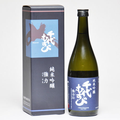 千代むすび 純米吟醸 強力(ごうりき)50 720ml 箱入 日本酒 鳥取 地酒 ギフト お歳暮 父の日 お中元