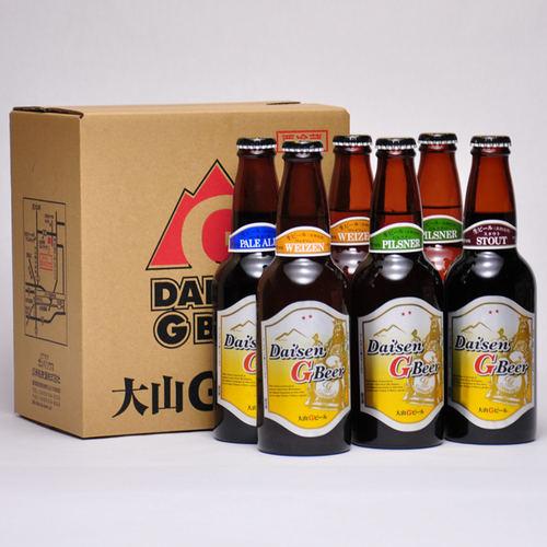 大山Gビール 330ml ×6本セット 要冷蔵 鳥取県産 地ビール WBA 世界第1位 代引不可 ギフト お歳暮 父の日 お中元 プレゼント用におすすめ