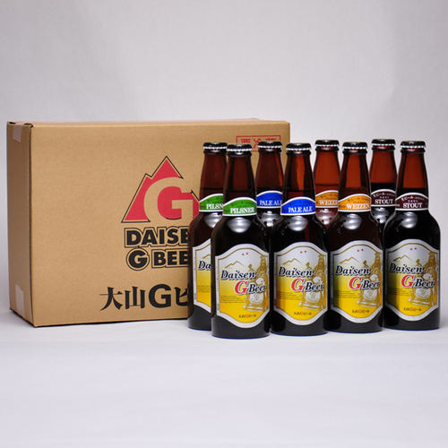 大山Gビール 330ml ×8本セット 要冷蔵 鳥取県産 地ビール WBA 世界第1位 代引不可 ギフト お歳暮 父の日 お中元 プレゼント用におすすめ