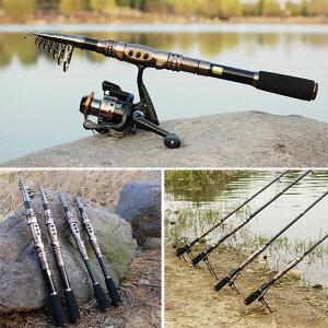 釣竿フィッシングロッド超軽量カーボン釣り竿スピニングロッド淡水釣り・海釣り携帯型3.0m