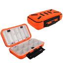 ルアーケース コンパクトサイズ ルアー ボックス 小物収納ケース タックルケース オレンジ グレー 釣り具 Goture