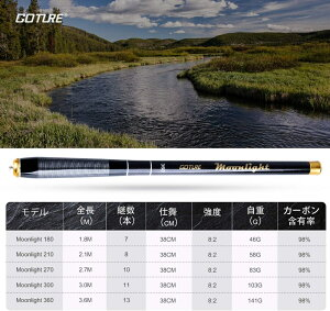 Moonlight渓流竿2.1m