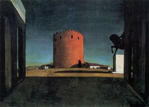 キリコ_赤い塔