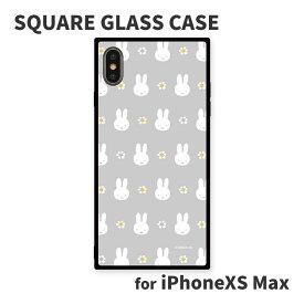 8月下旬発売予定 ミッフィー iPhoneXS Max対応スクエアガラスケース