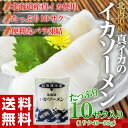 《送料無料》北海道産 真イカの「イカソーメン」たっぷり10柵入り 冷凍【冷凍同梱可能】☆
