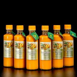 『シーベリー(サジー)100%果汁』北海道産希釈タイプ無糖300ml×6本○