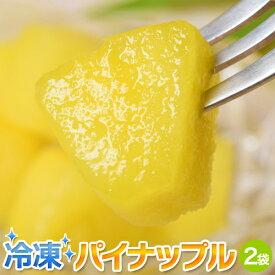 冷凍パイン カット 500g×2袋 計1kg 冷凍 パイナップル パインアップル [冷凍同梱可能] 冷凍フルーツ 冷凍果実 ジュース スムージー