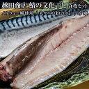 鯖 さば サバ 越田商店 鯖の文化干し ノルウェー鯖使用 大サイズ 約200g×5枚セット 冷凍 送料無料 冷凍同梱可能