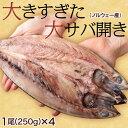 大きすぎた「大サバ開き」!4尾どどんと1キロ!! ※冷凍【冷凍同梱可能】○