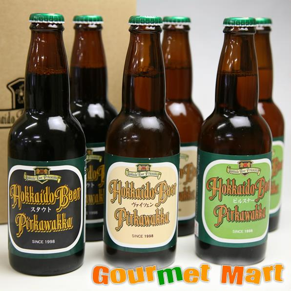 お中元ギフト 北海道ビール 千歳地ビール「ピリカワッカ」330ml 6本飲み比べセット