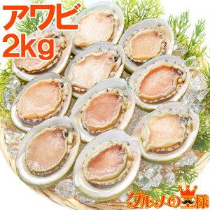 送料無料 あわび Lサイズ 2kg 合計24個 1箱12個入り 殻つきお刺身用アワビ 高級料亭でも使用する新鮮な殻付きあわび!【あわび アワビ 鮑 お造り バター焼き ステーキ おせち 翡翠の瞳 貝柱 築