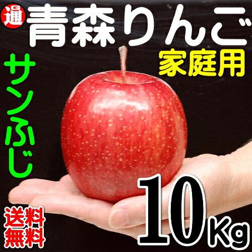 サンふじ りんご 訳あり 10kg 送料無料 青森 りんご 送料無料 サンふじ 10kg(22玉〜46玉入り りんご 訳あり見た目が訳ありでご家庭用の青森りんご サンふじりんご 青森 林檎 10キロ サンふじ 青森 りんご 訳ありリンゴ 青森 リンゴ