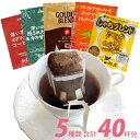 ドリップコーヒー コーヒー 40袋セット 5種類 笑顔の福袋(甘い8・深8・グァテ8・鯱8・G8 各8袋) 珈琲 送料無料 加藤珈琲