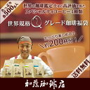 コーヒー豆 コーヒー 2kg 福袋 世界規格Qグレード珈琲福袋(お菓子・Qグァテ・Qホン・Qブラ・Qミャンマー 各500g) 珈琲豆 加藤珈琲