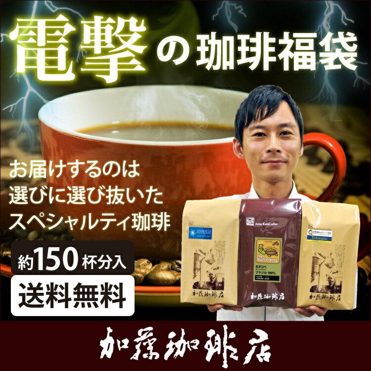 電撃の珈琲福袋[Qブラ・キボー・ラス]/珈琲豆