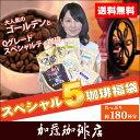 スペシャル5珈琲福袋(G500×2・Qグァテ200・Qホン200・Qブラ200・Qペル200)/珈琲豆
