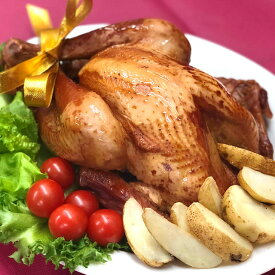 クリスマス・スモークターキー(1羽まるごと)温めるだけの手軽さが人気◆フランス産七面鳥を国内加工【冷凍】《12月14日からの発送》