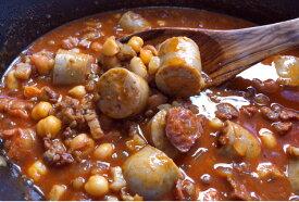 イベリコソーセージと豆の煮込みを楽しむセット(約4人前) 玉ねぎを用意すればOK!レシピbook付いてます【冷凍】