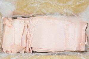国産豚皮(九州産 10kg) バルクパック 他商品との同梱不可 中華料理食材【冷凍】