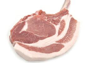 和豚もちぶたの骨付きロースチョップ(小 約280g) 柔らか食感、旨味の濃い骨付きステーキ【冷凍 不定貫3580円/kg(税別)で再計算】