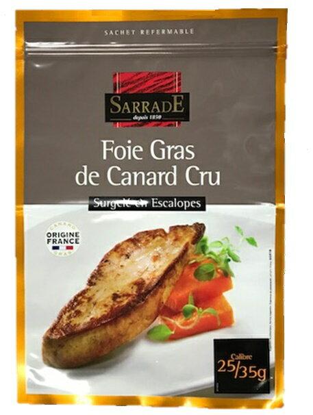 冷凍フォアドカナール エスカロップ 25-35g 1kg フランス産/ステーキ/サラド/スライス/鴨
