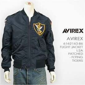 AVIREX アビレックス フライトジャケット L-2A パッチド フライングタイガース AVIREX L-2A PATCHED FLYING TIGERS 6162163-86 ミリタリー【送料無料】