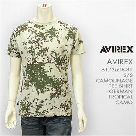 Avirex アビレックス 半袖 クルーネック カモフラージュTシャツ AVIREX S/S CREW NECK CAMOUFLAGE TEE GERMAN TROPICAL CAMO 6173098-51