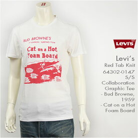Levi's リーバイス 半袖グラフィックTシャツ コラボレーション BUD BROWNE Levi's Red Tab Knit 64302-0147