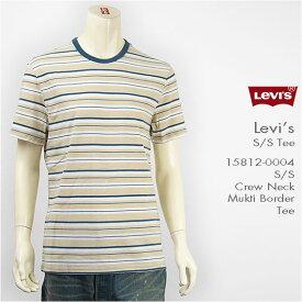 Levi's リーバイス 半袖 クルーネック ボーダーTシャツ マルチカラー Levi's S/S Tee 15812-0004